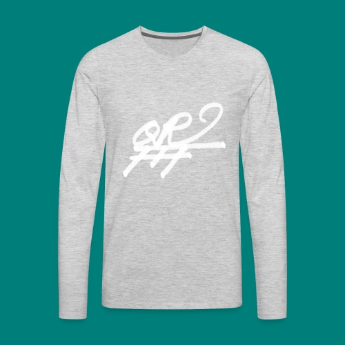 QRFFF RAW SHARPIE WHT - Men's Premium Long Sleeve T-Shirt