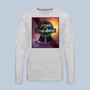 Jesus holy spirit logo with website - Men's Premium Long Sleeve T-Shirt