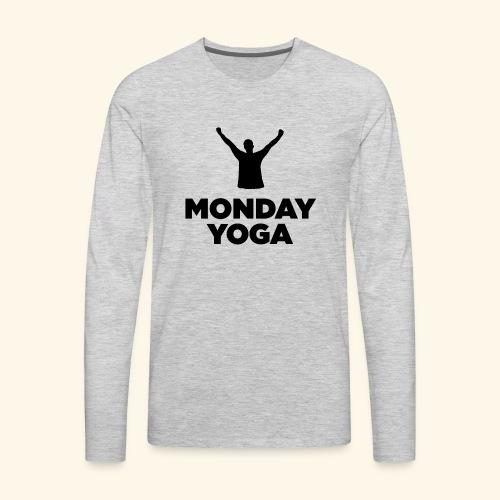 monday yoga - Men's Premium Long Sleeve T-Shirt