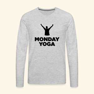 monday yoga - Men's Premium Long Sleeve T-Shirt