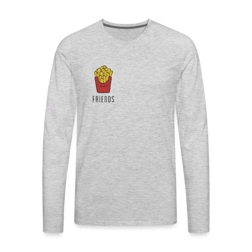 French fries best friends - Men's Premium Long Sleeve T-Shirt