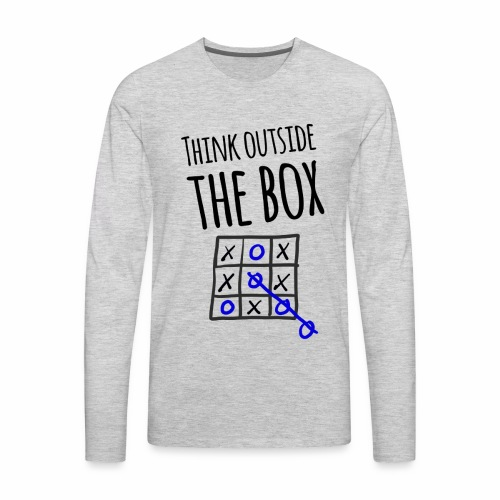 Think Outside the Box - Men's Premium Long Sleeve T-Shirt