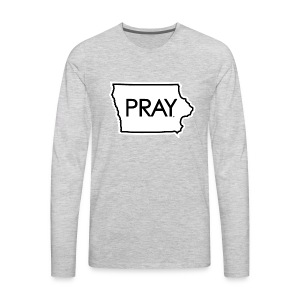 Pray Iowa - Men's Premium Long Sleeve T-Shirt