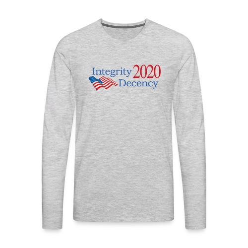 Vote for real American values! - Men's Premium Long Sleeve T-Shirt