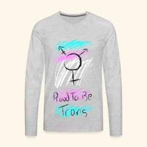 Trans Pride - Men's Premium Long Sleeve T-Shirt