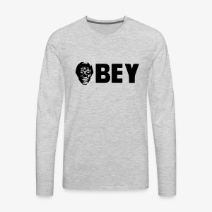 Alien OBEY Custom concept. - Men's Premium Long Sleeve T-Shirt