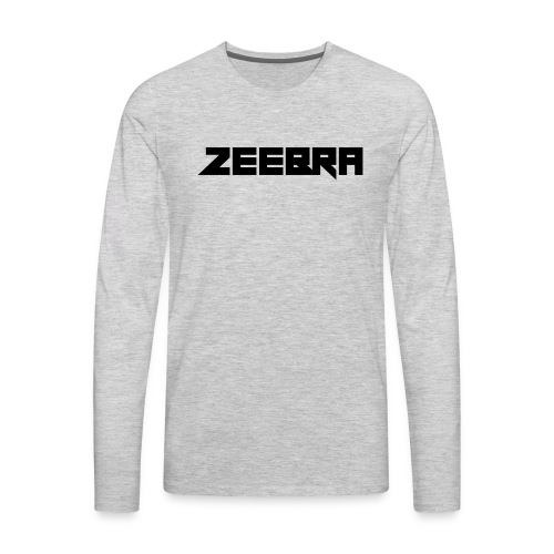 zeebra logo - Men's Premium Long Sleeve T-Shirt