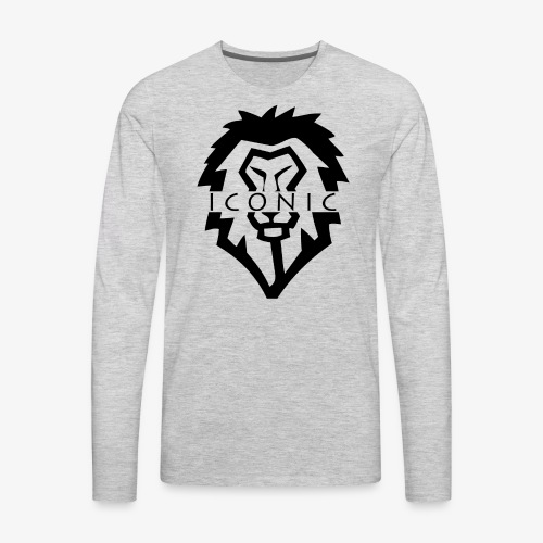 Obey Iconics Lion Split - Men's Premium Long Sleeve T-Shirt