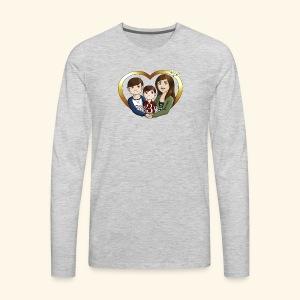 OUR3BS Heart - Men's Premium Long Sleeve T-Shirt