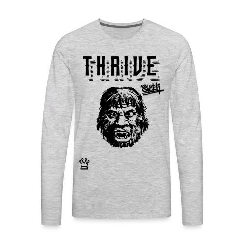 caveman thrive shirt - Men's Premium Long Sleeve T-Shirt