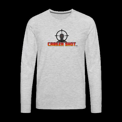 CABEZA SHOT - Men's Premium Long Sleeve T-Shirt