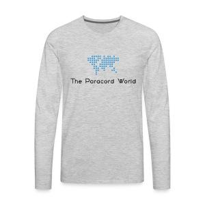 The Paracord World's Logo - Men's Premium Long Sleeve T-Shirt