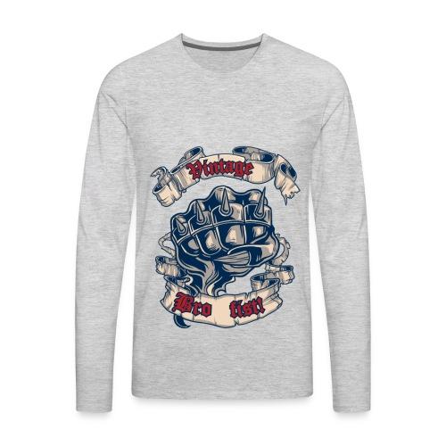 Vintage bro fist - Men's Premium Long Sleeve T-Shirt