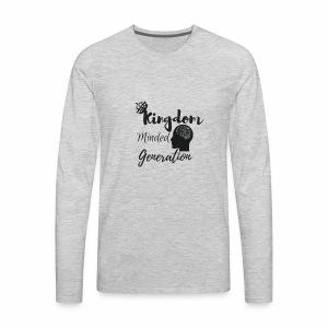 Kingdom minded generation - Men's Premium Long Sleeve T-Shirt
