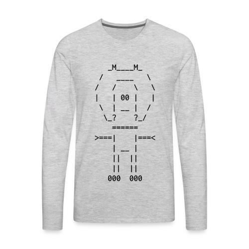 ASCII-naut - Men's Premium Long Sleeve T-Shirt