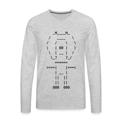 ASCII-naut - Men's Premium Long Sleeve T-Shirt