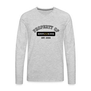 Property of Brazzers logo outline - Men's Premium Long Sleeve T-Shirt