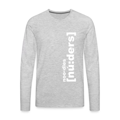 nooders white - Men's Premium Long Sleeve T-Shirt