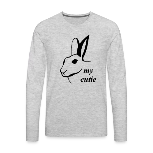 Cute bunny present - Men's Premium Long Sleeve T-Shirt