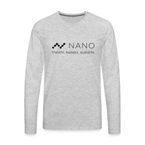 Nano Coin T-Shirt - Men's Premium Long Sleeve T-Shirt