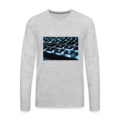 Glowing Keyboard - Men's Premium Long Sleeve T-Shirt
