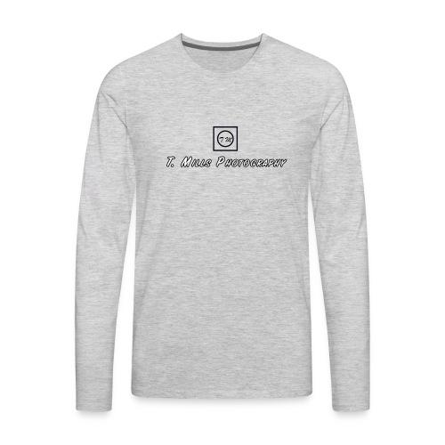T Mills Photography logo - Men's Premium Long Sleeve T-Shirt