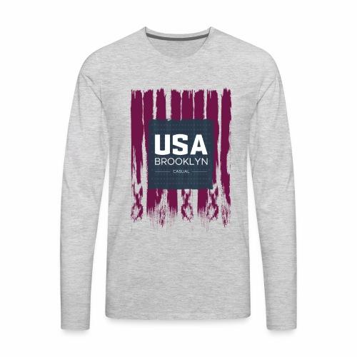 US T-Shirt - Men's Premium Long Sleeve T-Shirt
