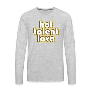Hot Talent Lava - White Letters - Men's Premium Long Sleeve T-Shirt