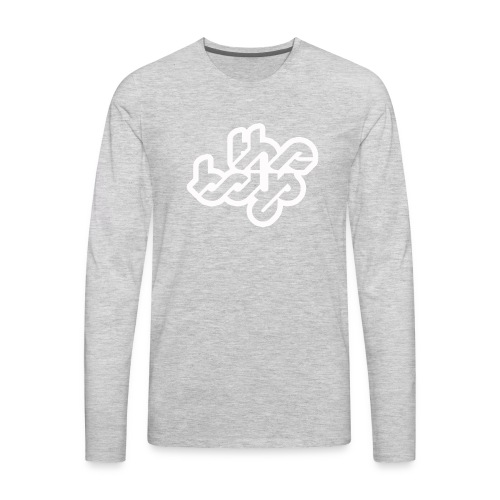 The Boys official logo - white - Men's Premium Long Sleeve T-Shirt