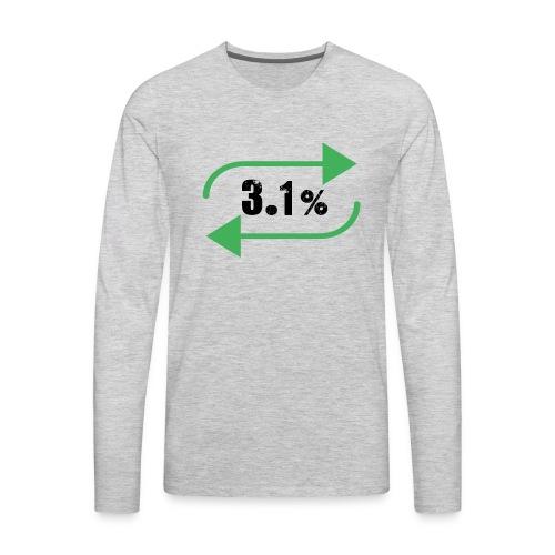 3.1% - Men's Premium Long Sleeve T-Shirt