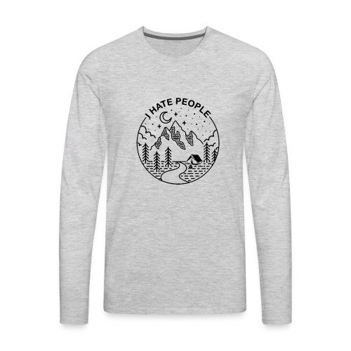 hate people merch - Men's Premium Long Sleeve T-Shirt