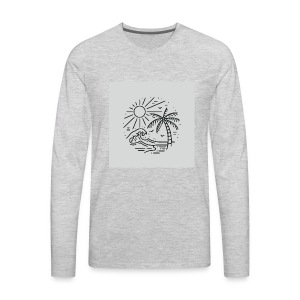 Palm tree clear wave tshirt - Men's Premium Long Sleeve T-Shirt