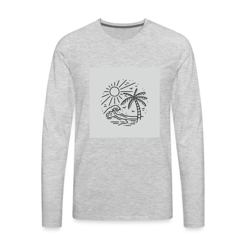 Palm tree clear wave tshirt - Men's Premium Long Sleeve T-Shirt