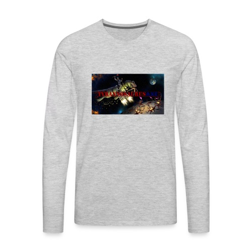 TyrannosaurusAXE-colorized - Men's Premium Long Sleeve T-Shirt