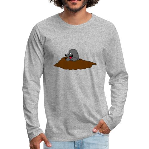 Mole Funny Cool clothes designed by professional - Men's Premium Long Sleeve T-Shirt