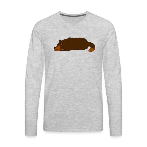 Sleeping Wolf - Men's Premium Long Sleeve T-Shirt