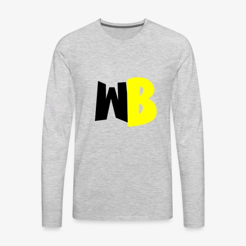 WannaBe letters - Men's Premium Long Sleeve T-Shirt