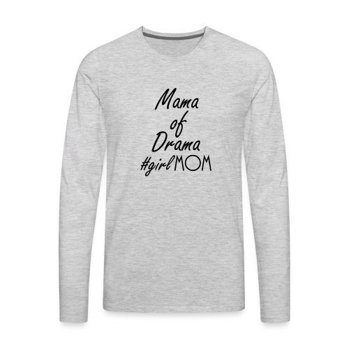Girl mom black - Men's Premium Long Sleeve T-Shirt