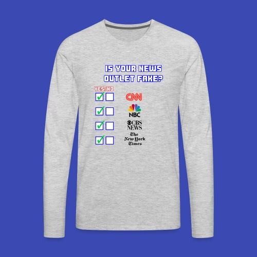 All About Fake News - Men's Premium Long Sleeve T-Shirt