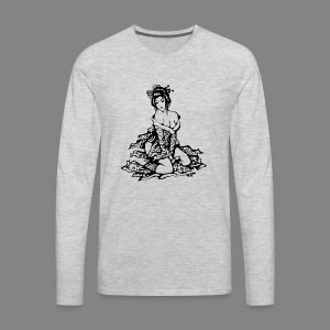 geisha black - Men's Premium Long Sleeve T-Shirt