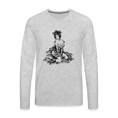 geisha black - Men's Premium Long Sleeve T-Shirt