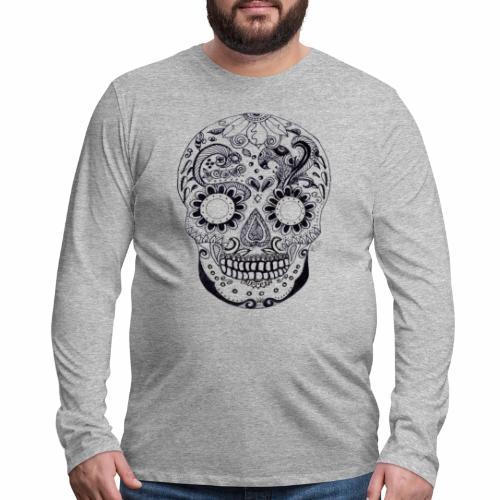 Calaber Zentangle black and White - Men's Premium Long Sleeve T-Shirt