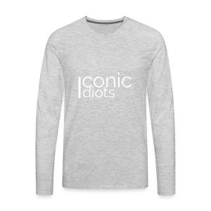 Idiots Logo (White) - Men's Premium Long Sleeve T-Shirt
