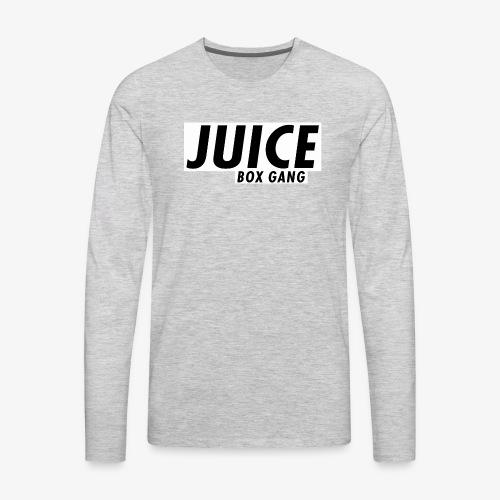 JBG white on black - Men's Premium Long Sleeve T-Shirt