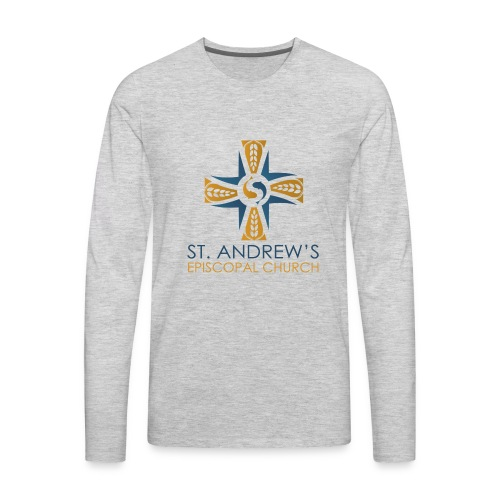 St. Andrew's logo on transparent background - Men's Premium Long Sleeve T-Shirt
