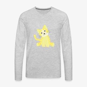 cute kitty - Men's Premium Long Sleeve T-Shirt
