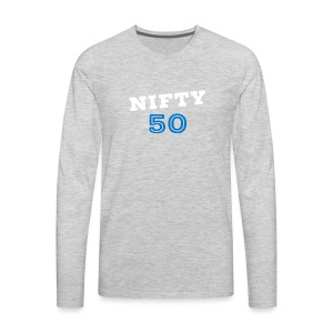 Nifty Fifty White - Men's Premium Long Sleeve T-Shirt