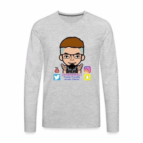 JJGeneral1 Logo - Men's Premium Long Sleeve T-Shirt