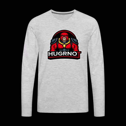 Hugrnot Logo - Men's Premium Long Sleeve T-Shirt