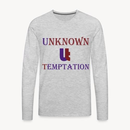 Unknown Temptation Logo - Men's Premium Long Sleeve T-Shirt